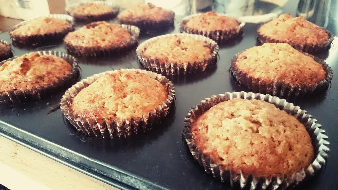 rezept bananen schoko muffins perlenmama. Black Bedroom Furniture Sets. Home Design Ideas
